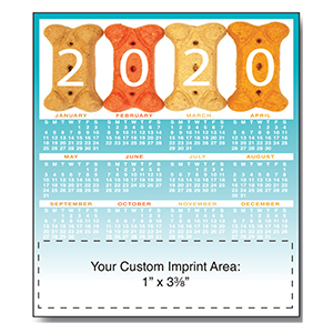 Item: Magnet-21115 - Dog Biscuit2 Magnetic Calendar