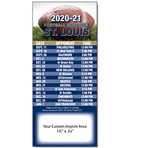 Item: Magnet-21335 - Football  Pro Team Sked