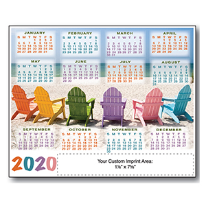 Item: Magnet-21405 - Beach Chair3 XXL Magnetic Calendar