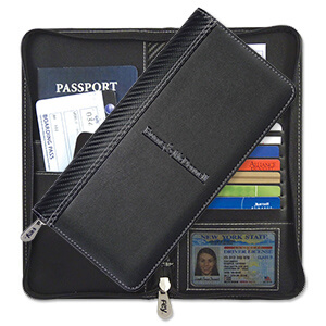 8093 - Carbon Fiber Travel Wallet - CLOSEOUT