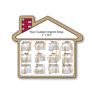 Item:  MG19056 -House Shape Magnetic Calendar
