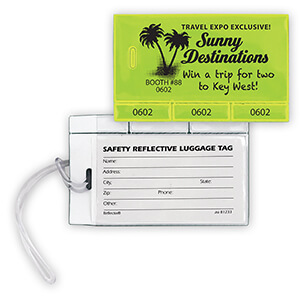 Item: RF302 - Reflective Luggage Tab/Tabber